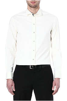 ARMANI Contrast piping cotton-blend shirt