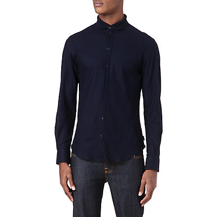 ARMANI Slim-fit collar shirt (Navy