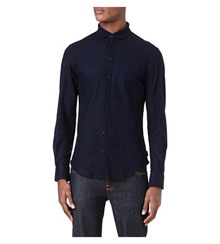 ARMANI Slim-fit collar shirt (Navy