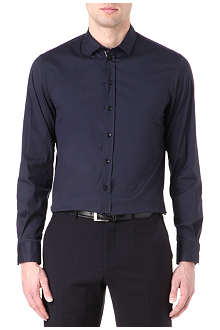 ARMANI Slim stretch-cotton-blend shirt