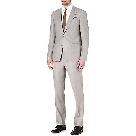 ARMANI Giorgio single-breasted wool suit (Taupe