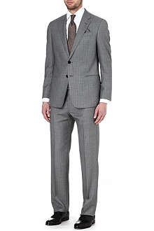ARMANI Single-breasted striped wool suit