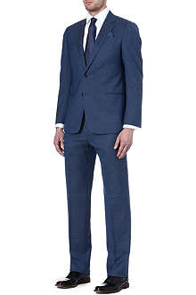 ARMANI Denim-look pinstripe suit