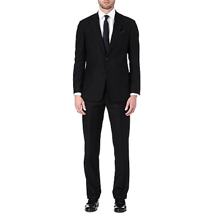 ARMANI Two-piece virgin wool suit (Black