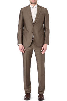 ARMANI Metropolitan wool and mohair-blend suit