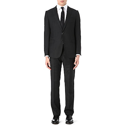 ARMANI Single-breasted pindot suit (Black