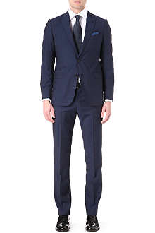 ARMANI Single-breasted tonal strip suit