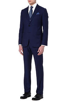 ARMANI Three-piece striped wool suit