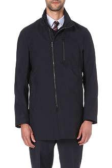 ARMANI COLLEZIONI Asymmetric zip raincoat