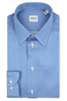 ARMANI COLLEZIONI Striped modern-fit single-cuff shirt