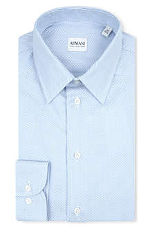 ARMANI COLLEZIONI Dash striped modern-fit single-cuff shirt