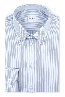 ARMANI COLLEZIONI Modern-fit double-stripe shirt