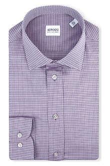 ARMANI COLLEZIONI Modern-fit grid-print shirt