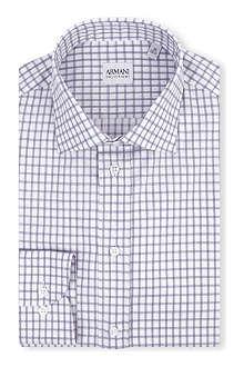 ARMANI COLLEZIONI Modern-fit check-print shirt