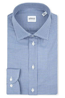 ARMANI COLLEZIONI Gingham modern-fit single-cuff shirt