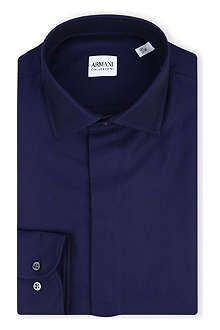 ARMANI COLLEZIONI Modern-fit jacquard shirt