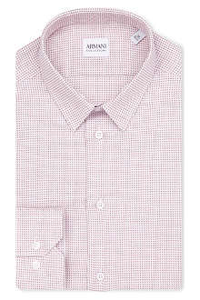 ARMANI COLLEZIONI Geometric slim-fit shirt