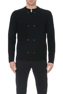 ARMANI COLLEZIONI Double-breasted knitted cardigan
