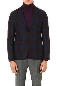 ARMANI COLLEZIONI Checked wool blazer