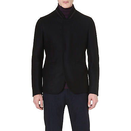 ARMANI COLLEZIONI Bomber-style tailored jacket (Black