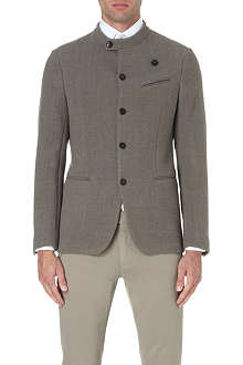 ARMANI COLLEZIONI Sharply tailored wool jacket