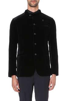 ARMANI COLLEZIONI Nehru velvet jacket