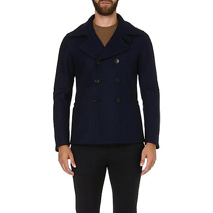 ARMANI COLLEZIONI Double-breasted peacoat (Navy