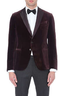 ARMANI COLLEZIONI Velvet satin-lapel jacket