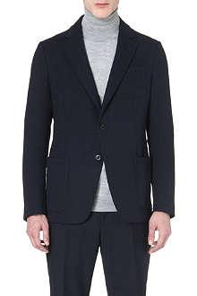 ARMANI COLLEZIONI Hopsack patch-pocket jacket