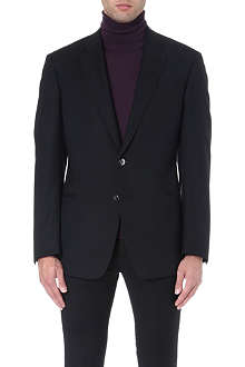 ARMANI COLLEZIONI Single-breasted wool blend jacket