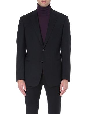ARMANI COLLEZIONI Single-breasted wool blend jacket