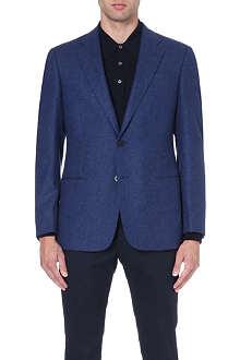 ARMANI COLLEZIONI Giorgio birdseye wool-blend jacket