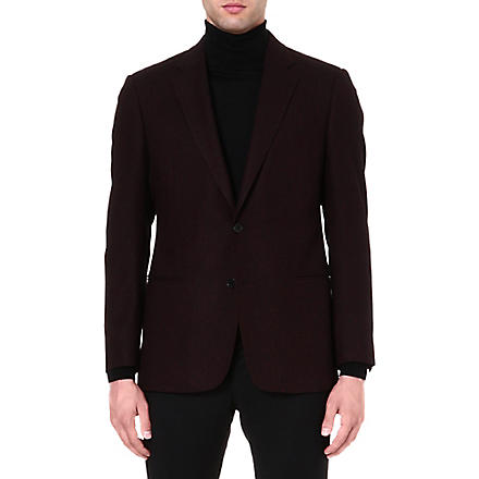 ARMANI COLLEZIONI Herringbone jacket (Burgundy