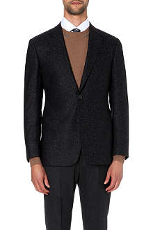 ARMANI COLLEZIONI Single-breasted herringbone jacket