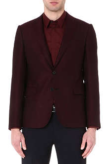 ARMANI COLLEZIONI Basketweave single-breasted blazer