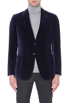 ARMANI COLLEZIONI Velvet single-breasted jacket