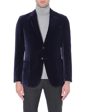 ARMANI COLLEZIONI Velvet single-breasted jacket