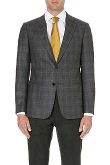 ARMANI COLLEZIONI Single-breasted wool and cashmere jacket