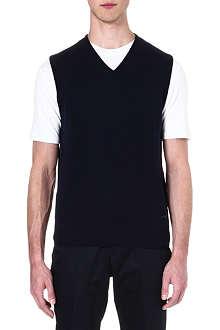 ARMANI COLLEZIONI V-neck merino wool vest
