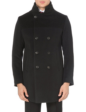ARMANI COLLEZIONI Double-breasted wool and cashmere-blend coat