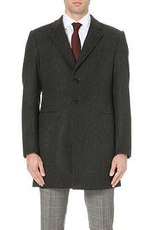 ARMANI COLLEZIONI Singe-breasted wool-blend coat
