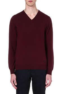 ARMANI COLLEZIONI Merino wool v-neck jumper