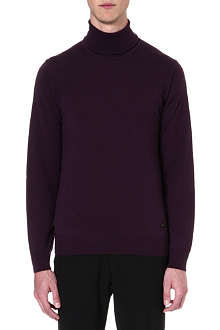 ARMANI COLLEZIONI Merino wool roll-neck jumper
