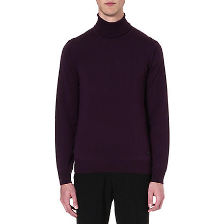 ARMANI COLLEZIONI Merino wool roll-neck jumper (Purple