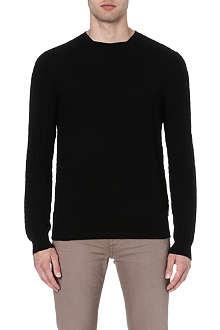 ARMANI COLLEZIONI Textured knit jumper