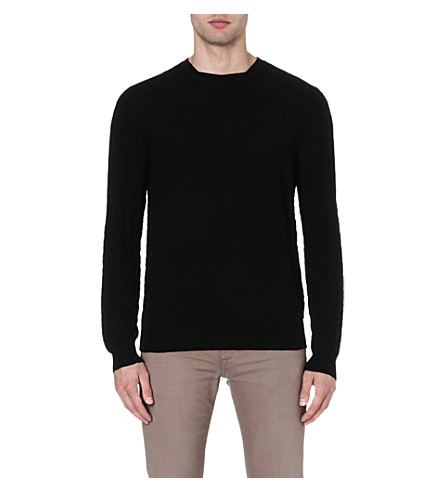 ARMANI COLLEZIONI Textured knit jumper (Black