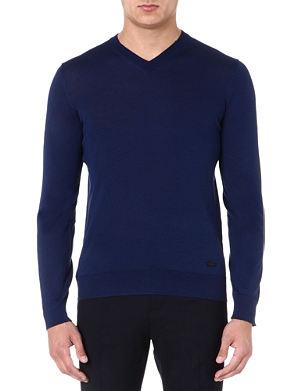 ARMANI COLLEZIONI Wool v-neck jumper