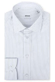 ARMANI COLLEZIONI Modern-fit striped shirt
