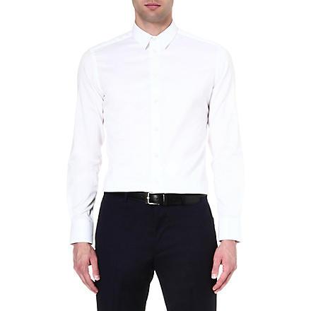 ARMANI COLLEZIONI Slim-fit single-cuff shirt (White