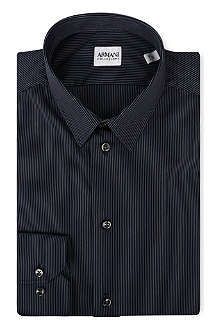 ARMANI COLLEZIONI Striped slim-fit shirt
